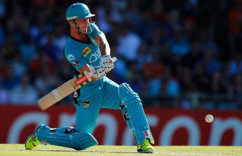 Chris Lynn is known for his aggressive batting style.