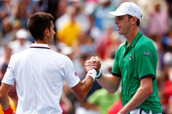 American Sam Querrey we will take on top seed Novak Djokovic.