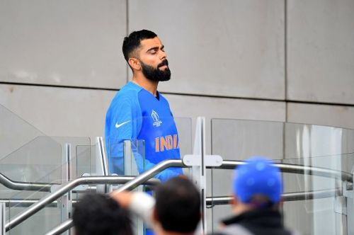 Virat Kohli cut a disappointing figure after the World Cup semifinal