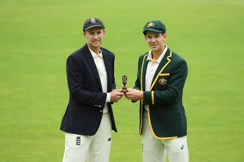 Joe Root and Tim Paine