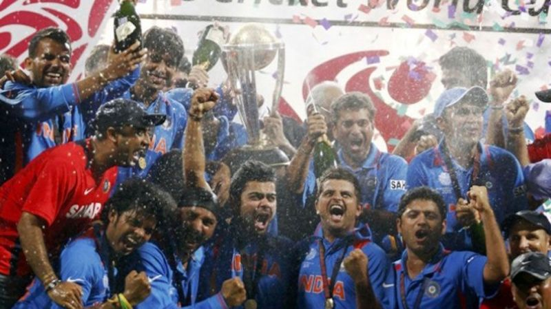 dhoni 2011 world cup