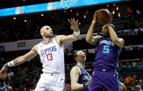 Marcin Gortat spent the 18-19 season with the Lakers' closest rivals