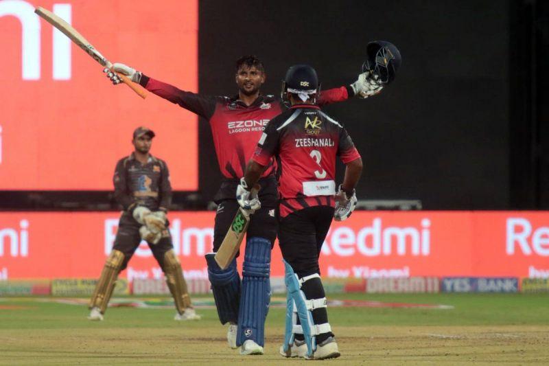 कृष्णप्पा गौतम ने बेल्लारी टस्कर्स की ओर से खेलते हुए 39 गेंदों में शतक जड़ा