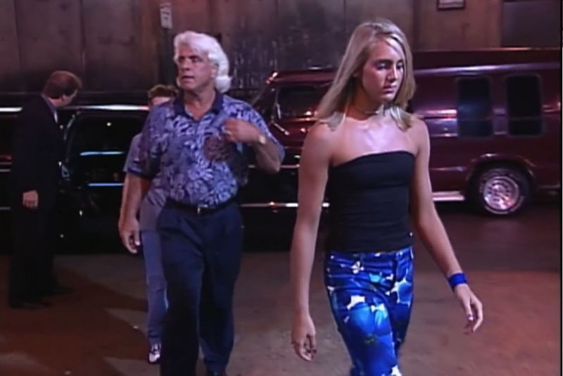 Ric and Charlotte Flair in WCW