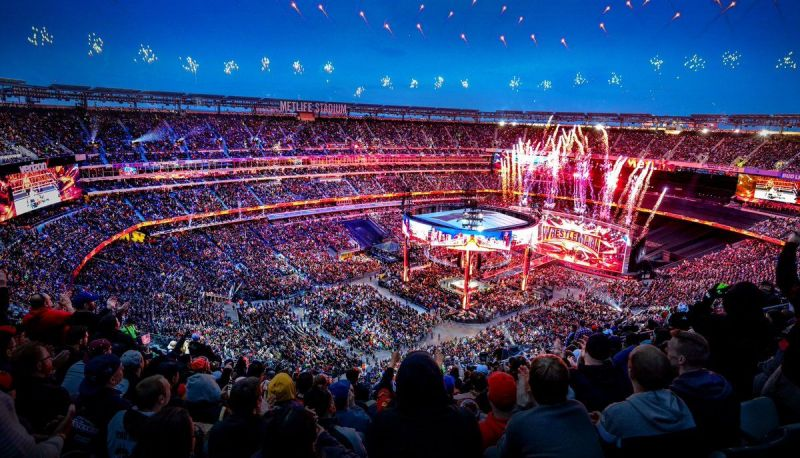 The view above WrestleMania 35
