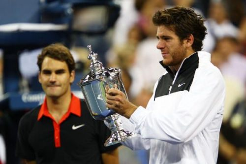In the 2009 US Open final, Del Potro ended Federer's 40-match winning run