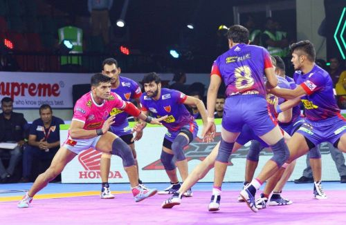 Jaipur lost their very first match of the season to Dabang Delhi in a heated affair