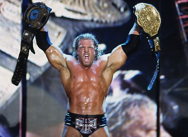 Triple H: Ended WrestleMania X-8 as Undisputed Champion