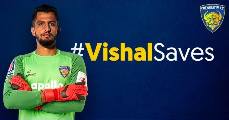 Vishal Kaith. Image credit: @ChennaiyinFC