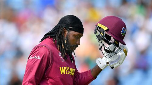 Chris Gayle failed to impress on his 299th ODI appearance