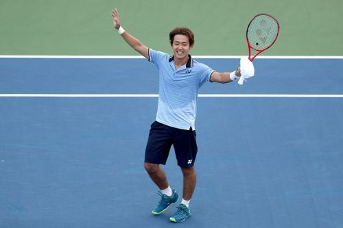 Nishioka rejoices after reaching his first Masters 1000 quarterfinal