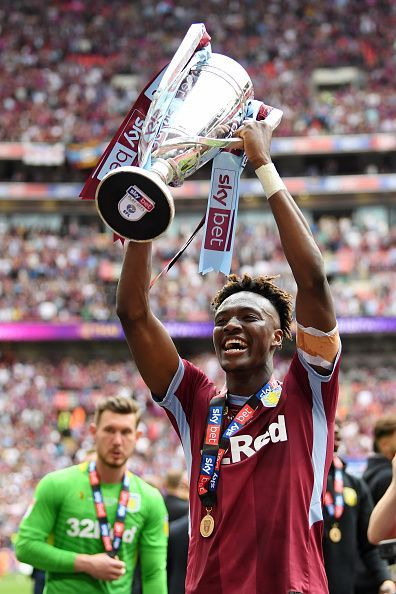 Tammy Abraham played a key role in helping Aston Villa win promotion
