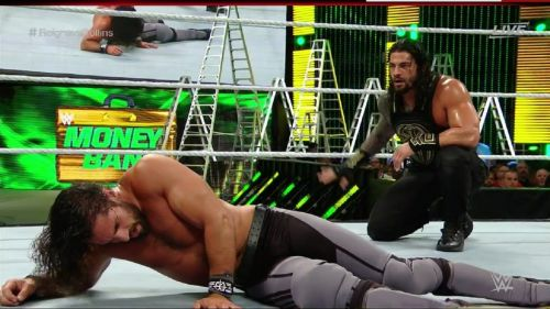 Reigns defended his WWE World Heavyweight Championship against the returning Seth Rollins