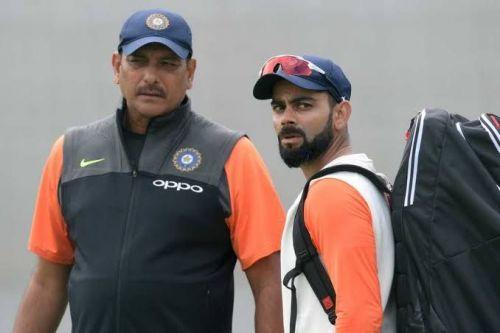 Ravi shastri with VK