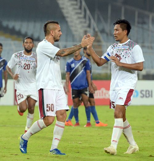 Fran Gonzalez (left) was the only foreigner who played for Mohun Bagan on Saturday