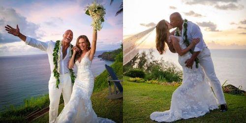 द रॉक ने अपनी गर्लफ्रेंड से शादी की