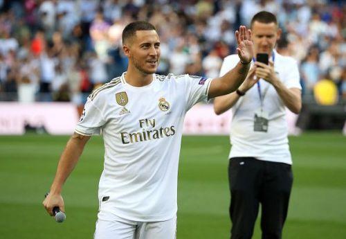 Real Madrid Unveil New Signing Eden Hazard