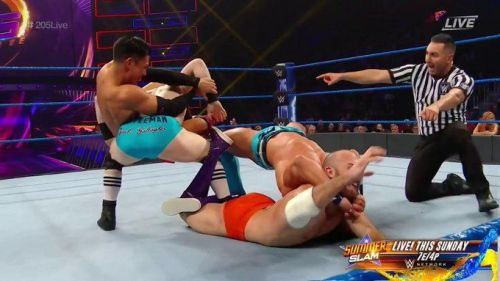A web of pain trapped Oney Lorcan and Jack Gallagher in the middle of the ring