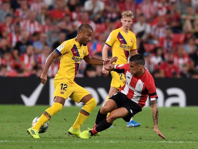 Garcia dispossesses substitute Rafinha during an action-packed evening for the midfielder