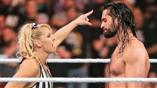 Lacey Evans got involved in Seth Rollins' rivalry with Baron Corbin