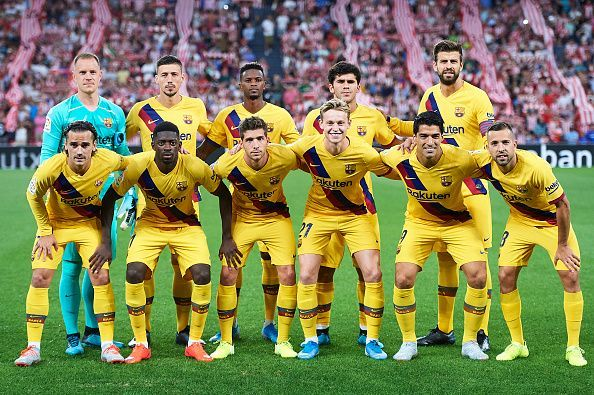 Barcelona suffered a 0-1 reverse at Athletic Bilbao on opening day