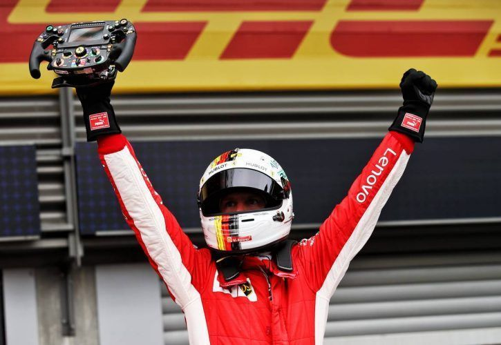 Vettel won his last race in F1 at Spa last year