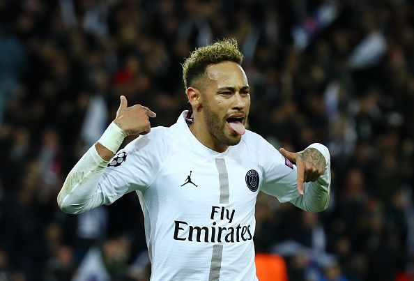 Neymar in action for Paris Saint-Germain v Liverpool