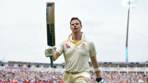 Steve Smith salutes the crowd