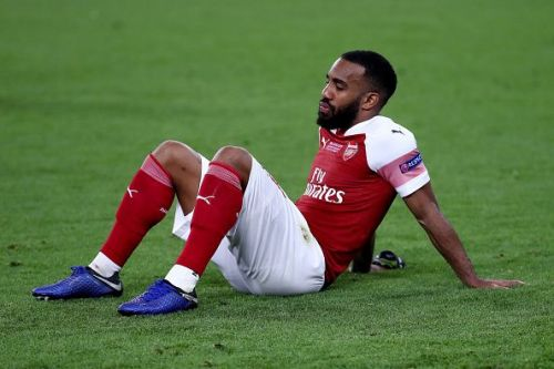 Alexandre Lacazette is a doubt for Sunday's game