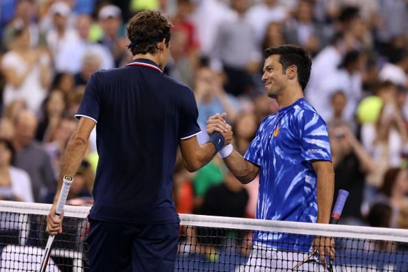 In his 75th match at the US Open, Federer beat Phau in the 2012 second-round
