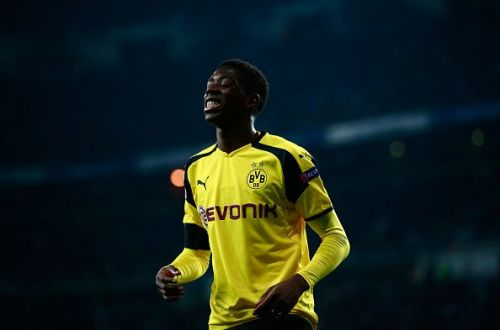Ousmane Dembele will face Borussia Dortmund in the group stage