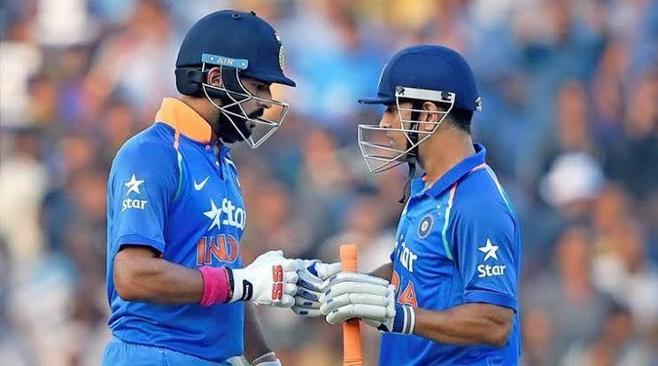 Yuvraj Singh and Dhoni