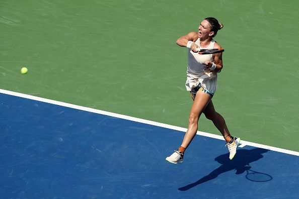 Simina Halep has been ousted in the first round of the US Open twice in a row now.