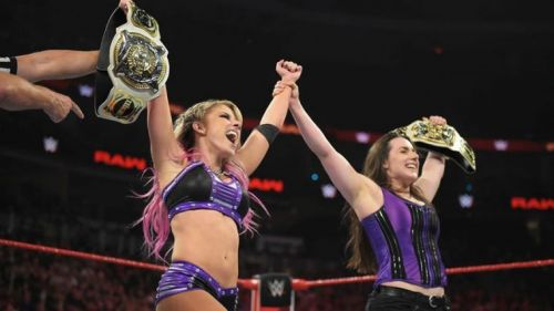 Nikki Cross and Alexa Bliss will defend their Women's Tag Team Championships tonight