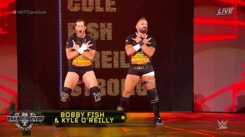 O'Reilly and Fish lost their NXT Tag Title match in Toronto