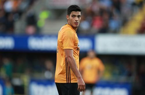 Jimenez in action during one of Wolves' Europa League Qualifying fixtures earlier this month