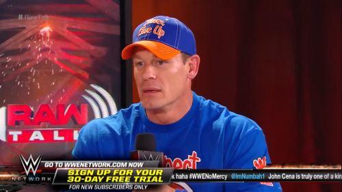 John Cena on Raw Talk
