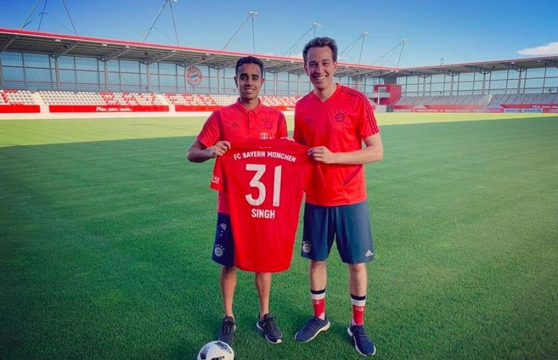 Sarpreet Singh became the first Indian origin player to sign for Bayern Munich