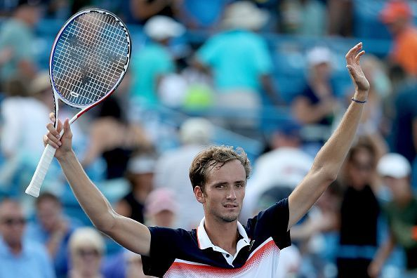 Medvedev exults after beating Goffin to win his 1st Masters title at 2019 Cincinnati