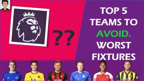 Top 5 teams to avoid