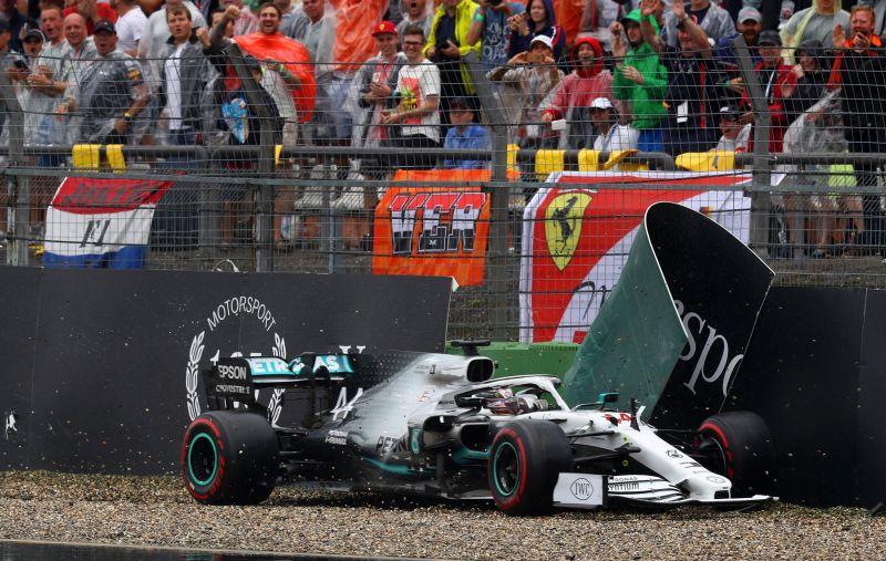 Image result for bottas germany crash