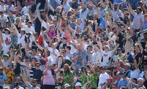 The boisterous Headingley crowd in action.