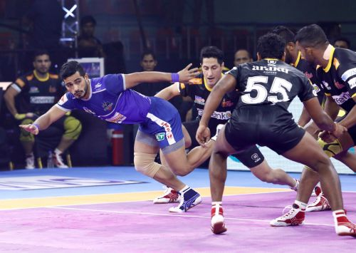 Telugu Titans clinched their second win of the season after defeating the Haryana Steelers