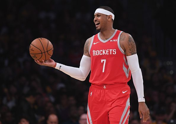 Carmelo Anthony spent the early part of the 2018-19 season with the Houston Rockets