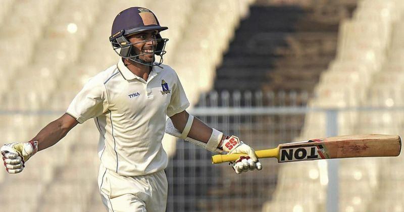 अभिमन्यु ईश्वरन ने नाबाद 59 रन बनाए
