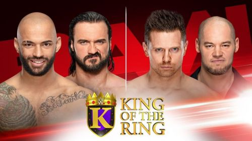 Who will progress to the second round of the King of the Ring tournament?