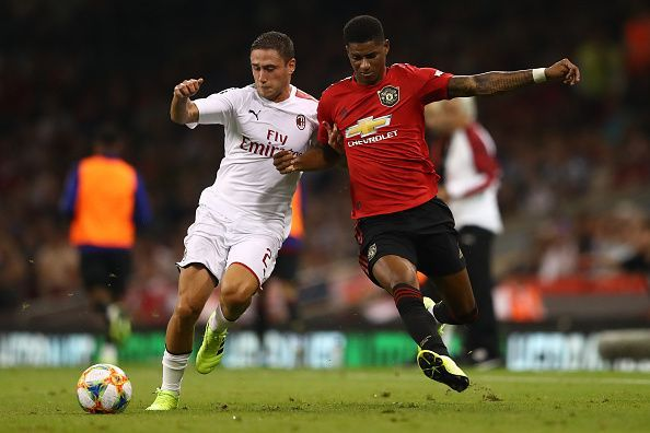 Marcus Rashford (R) scored the all-important opening goal