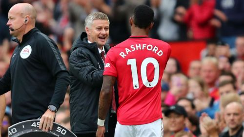 Marcus Rashford and Ole Gunnar Solskjaer