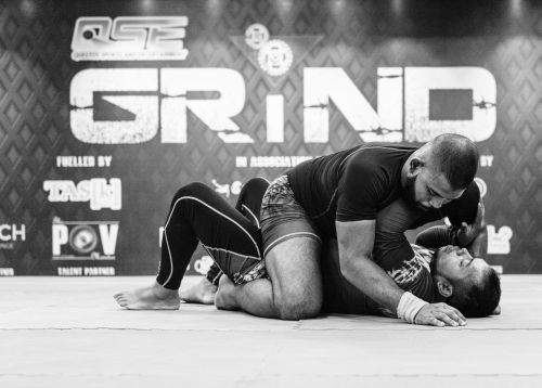 Sagnick Gupta of Indian Top Team MMA (India) takes the fight to Ishtiak Ahmed Chowdhury of Invictus BJJ and MMA (Bangladesh) during the co-main event.