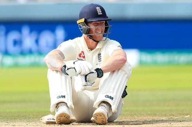 Stokes survives a run out scare as the throw was at the wrong end